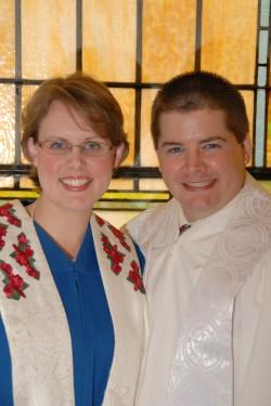 Pastor Katie Oskin and Pastor Luke Oskin